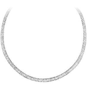 "16"" Simulated Diamond Black Mesh Necklace"