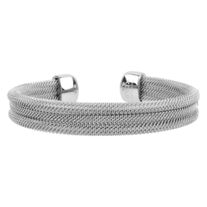 "8"" Stainless Steel Mesh Bangle Bracelet from Inox"