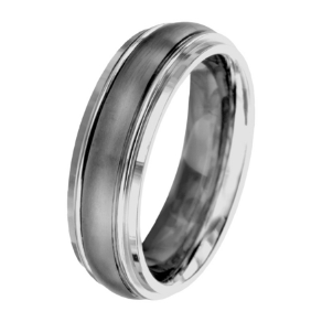 Two-Tone Titanium Wedding Ring from Inox