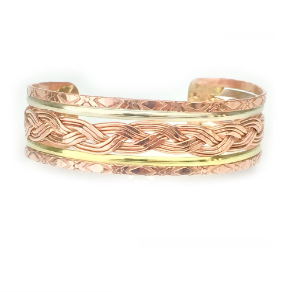 Handmade Copper and Brass Bangle Cuff Bracelet