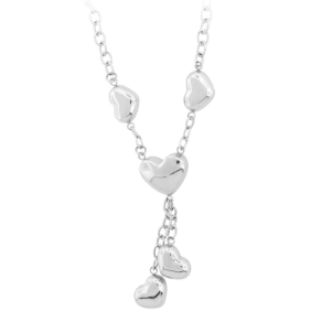 Inox Stainless Steel Puffy Heart Necklace