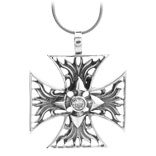 Antiqued Sterling Silver Iron Cross Pendant From Inox