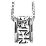 Inox Sterling Silver Iron Cross Pendant