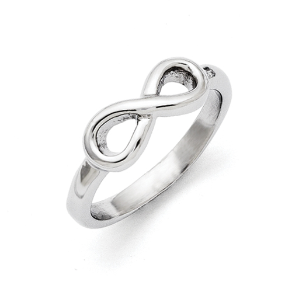 Chisel Stainless Steel Infinity Symbol Ring