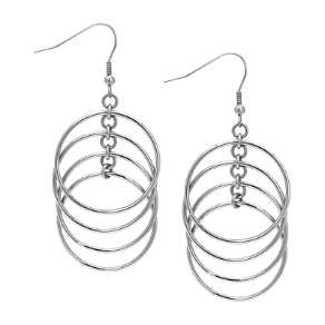 Inox Stainless Steel Dangling Circle Earrings