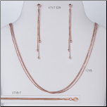"16 + 2"" Rose Gold Vermeil 3 Strand Snake Chain Necklace"