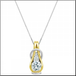 Reign 2 Tone Sterling Silver Diamondlite Knot Necklace