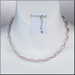 "16"" 3 Strand Sterling Silver&Rose Gold Vermeil Twisted Omega Necklace"