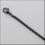 Gun Metal Black Sterling Silver Cable Chain in 2 Lengths