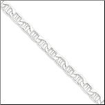 Italian Sterling Silver Hollow Anchor Chain in 3 Lengths