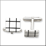 Men's Sterling Silver Cuff Links