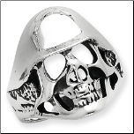 Antiqued Sterling Silver Skull Ring