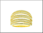 Gold Vermeil Sterling Silver Micro-pave CZ Dome Ring