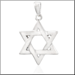 Sterling Silver Star of David Pendant and Chain