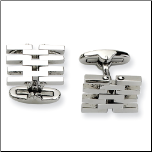 Polished Stainless Steel Cuff Links