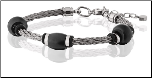 "8 - 9.5"" Talexia Stainless Steel Cable Bracelet"