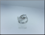 Stainless Steel and CZ Engagement and Wedding Ring Set