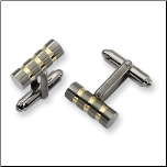 Titanium and Gold Cuff Links