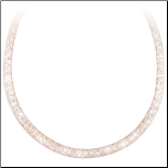 "17.5"" Simulated Diamond Rose Colored Mesh Necklace w/ Sterling Clasp"