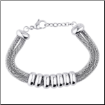 "7"" + 1"" ext Stainless Steel Mesh Bracelet from Inox"