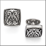 Edward Mirell Titanium Casted Cuff Links