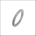 3mm Inox Stainless Steel and CZ Ladies Wedding Ring