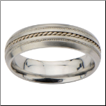 4mm Inox Women's Stainless Steel Wedding Band
