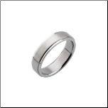6mm Inox Stainless Steel Ring with Satin Center & Polished Edges