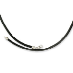 Black Leather Neck Cord in 3 Lengths