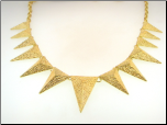 "16+3"" Gold Plated Pyramid Bib Necklace"