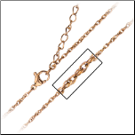 "16 + 2"" Inox Ip Rose Gold Stainless Steel Singapore Chain"