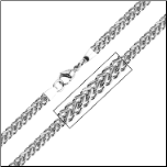 4 mm Stainless Steel Franco Chain -+Available in 5 Lengths