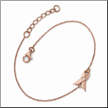 Rose Gold Sterling Silver and CZ Breast Cancer Awareness Bracelet