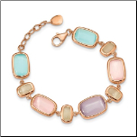 "7+1"" Rose Gold Vermeil and Created Cat's Eye Bracelet"
