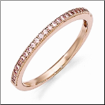 2mm Rose Gold Plated Sterling Silver & CZ Wedding/ Eternity/ Right Hand Ring