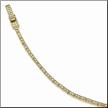 Gold Plated Sterling Silver and CZ Tennis Bracelet