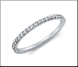 Rhodium Eternity Band with 1.2mm CZ