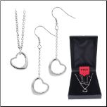 Designer Inspired Stainless Steel Heart Set from Inox