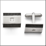 Stainless Steel, Ip Black Steel, and CZ Cufflinks