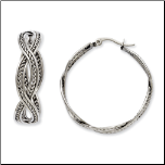 35mm Stainless Steel Twisted Infinity Hoop Earrings