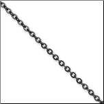 2.3mm Chisel Ip Black Cable Chain in 4 Lengths