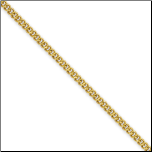 2.25mm Ip Gold Stainless Steel Round Curb Chain in 4 Lengths