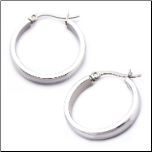 4mm Inox Stainless Steel Hoop Earrings