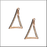 20mm Inox Rose Gold Stainless Steel Triangle Shaped Hoop Earrings