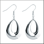40 mm Stainless Steel Dangling Tear Drop Earrings From Inox