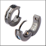 Inox Ip Back Stainless Steel Huggie Earrings