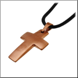 Chocolate Steel Cross Pendant From Inox