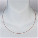 "16"" Rose Gold Vermeil and Sterling Silver Diamond Cut Round Omega Chain"
