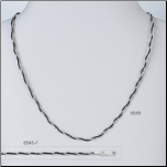 "15.5+2"" Sterling Silver and Ruthenium Fancy Snake Chain"
