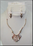 Three-Tone Necklace and Earring Set